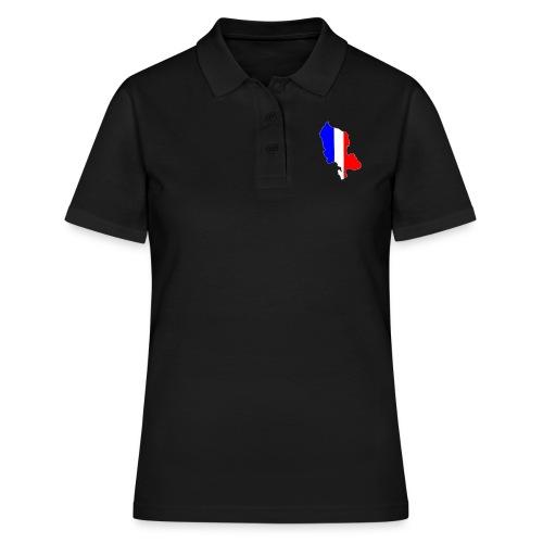Carte Territoire de Belfort bleu blanc rouge - Polo Femme