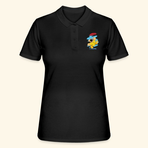 Der Bär tanzt im Regen - Frauen Polo Shirt