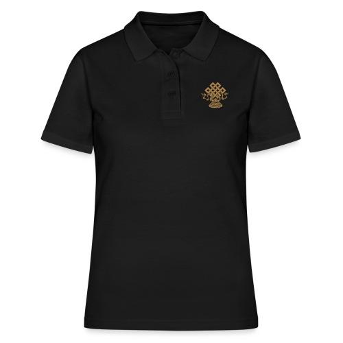 Endlosknoten, Buddhistisches Glückssymbol, Lotus - Frauen Polo Shirt