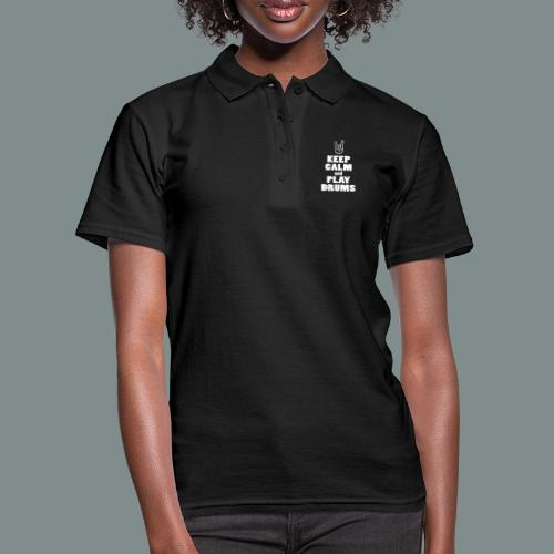 Keep calm and play drums - Polo Femme