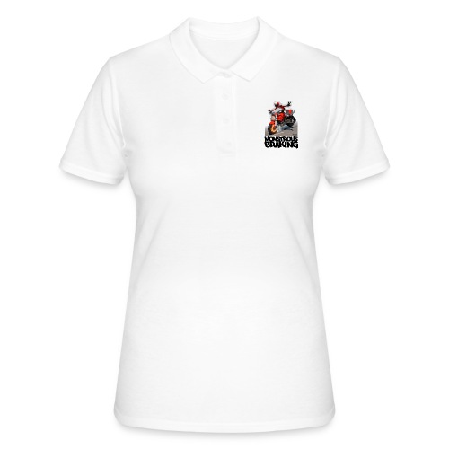 Ducati Monster, a motorcycle stoppie. - Women's Polo Shirt
