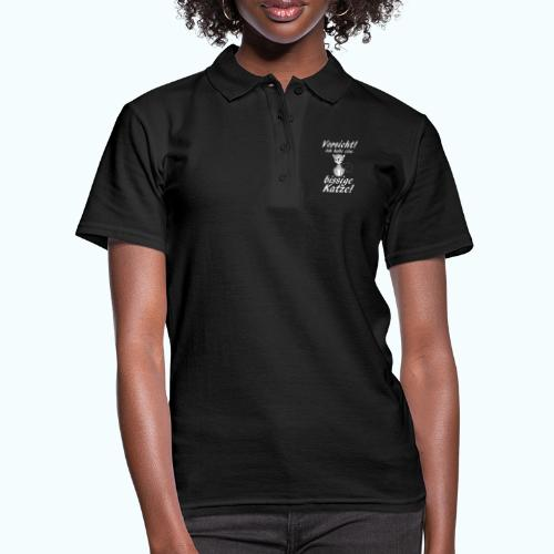 VORSICHT ich habe eine bissige Katze! - Women's Polo Shirt