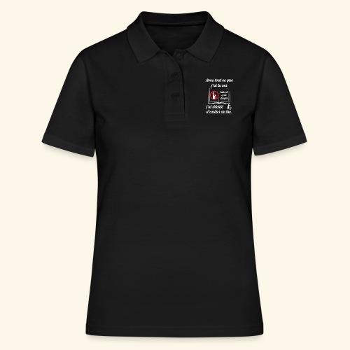 arrêter de lire - Women's Polo Shirt