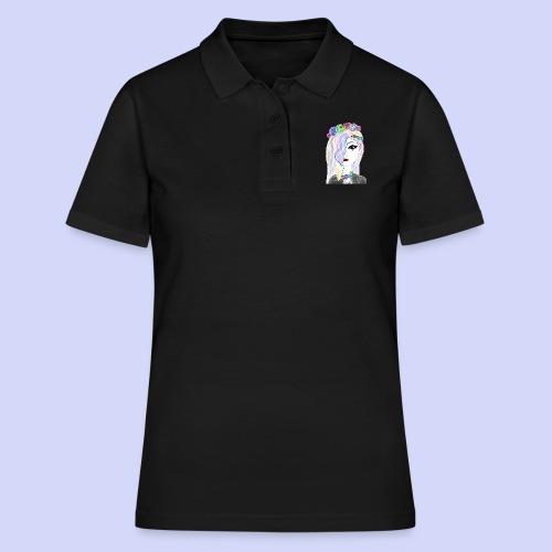 Rainbow flower girl - Female shirt - Poloshirt dame