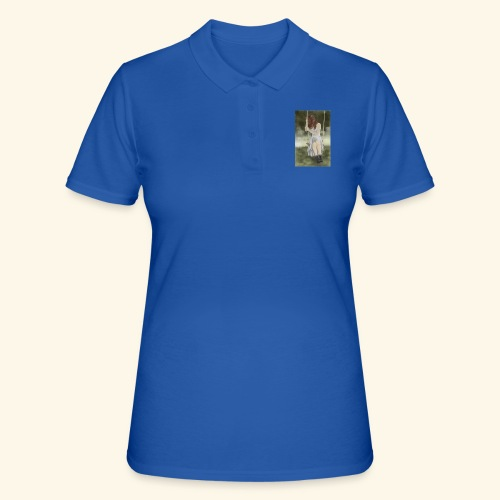 Sad Girl on Swing - Women's Polo Shirt