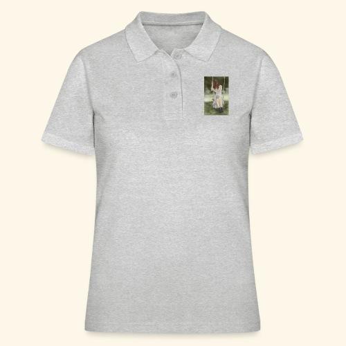 Sad Girl on Swing - Women's Polo Shirt