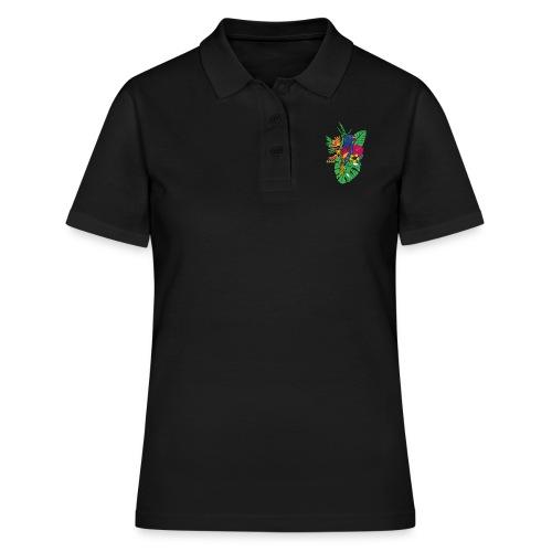 gaya flower parrot - Frauen Polo Shirt