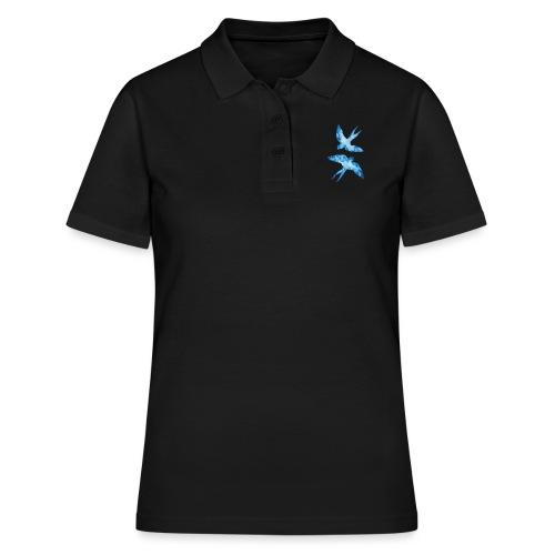 Akwarelowe jaskółki - Women's Polo Shirt