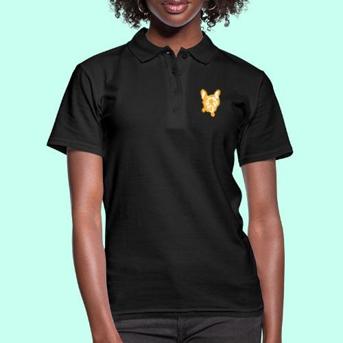 Bulldogge Beige schauend - Frauen Polo Shirt