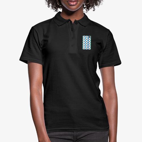 |K·CLOTHES| HEXAGON ESSENCE BLUES & WHITE - Women's Polo Shirt