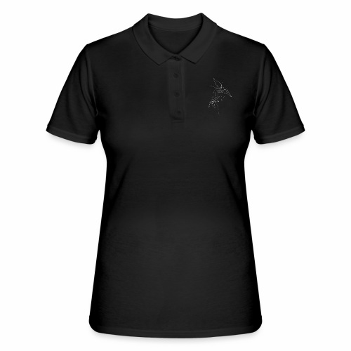 flowers white - Women's Polo Shirt