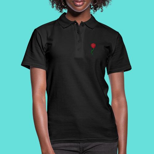 Rose rouge - Polo Femme