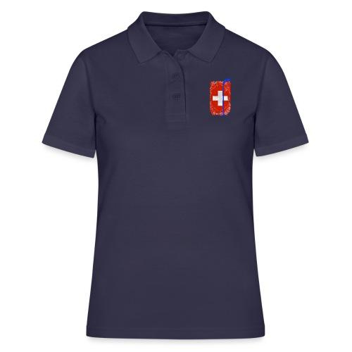Schweizer Flagge Hockey - Frauen Polo Shirt