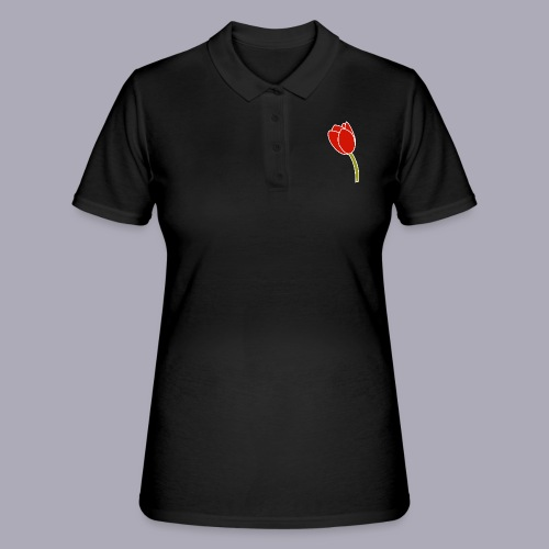 Tulip Logo Design - Women's Polo Shirt