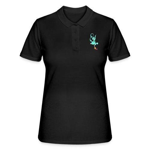Zeichnerbunny mit Pinsel - Frauen Polo Shirt