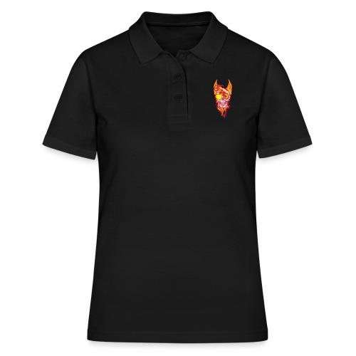 tete mort moto skull aile flamme fire - Polo Femme