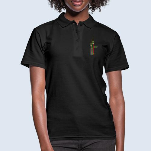 """Berliner Original """"Fernsehturm III"""" PopArt Design - Frauen Polo Shirt"""