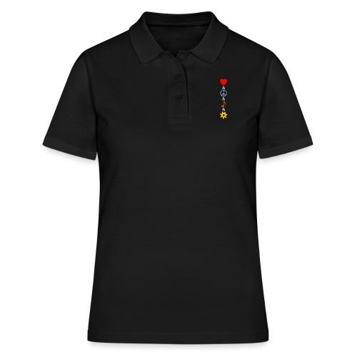 Love Peace Music Flower Hippie Summer - Frauen Polo Shirt