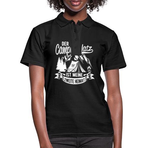 Der Campingplatz ist meine zweite Heimat - Frauen Polo Shirt