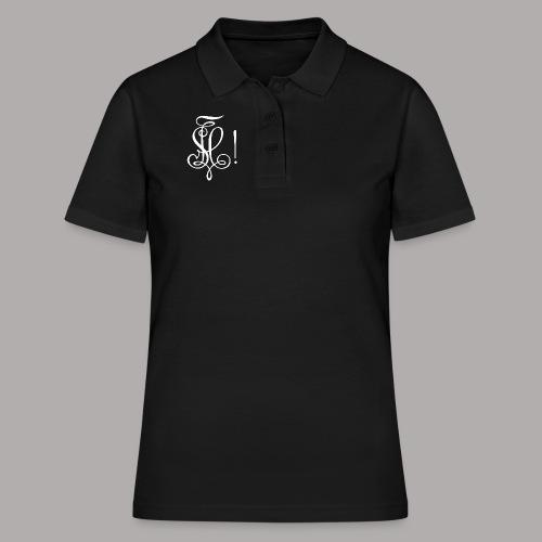 Zirkel, weiss (vorne) - Frauen Polo Shirt