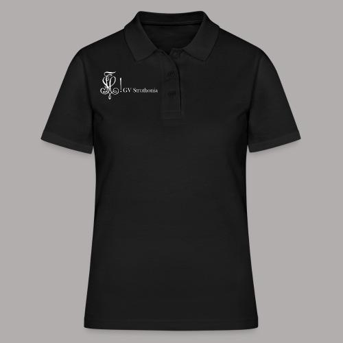 Zirkel mit Name, weiss (vorne) - Frauen Polo Shirt