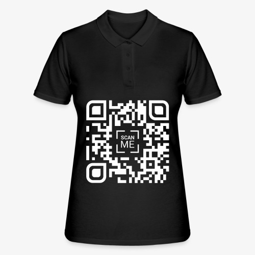 QR code (white) - Women's Polo Shirt