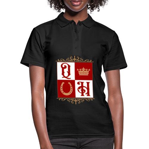 Quater Horse Ornament Pferd Royal König Geschenk - Frauen Polo Shirt