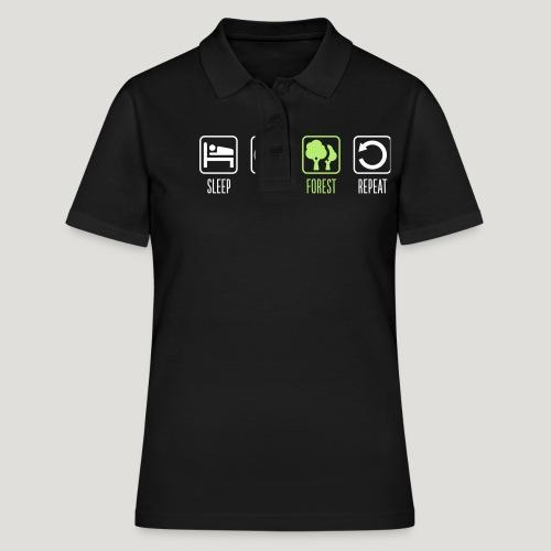 Sleep Eat Forest Repeat - Frauen Polo Shirt