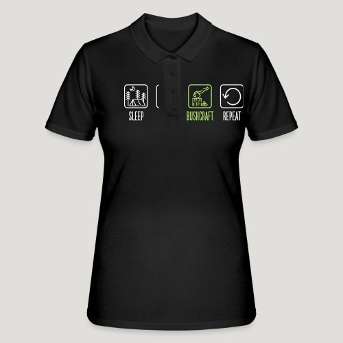 Sleep Eat Bushcraft Repeat - Frauen Polo Shirt