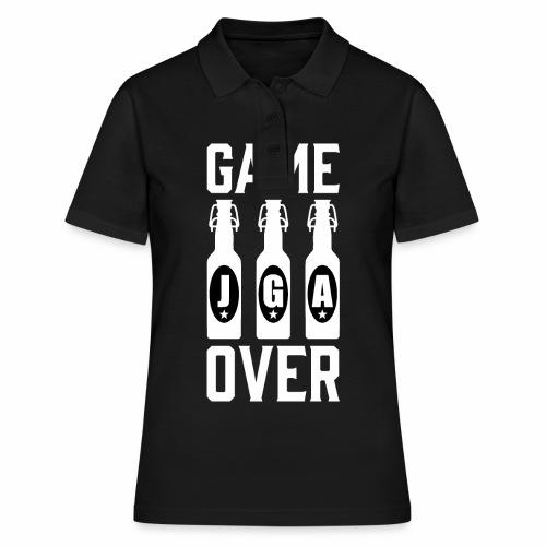 01 Game Over JGA Bierflaschen weiss - Frauen Polo Shirt