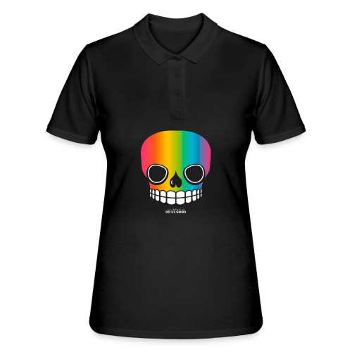 JUST SKULL rainbow - Women's Polo Shirt