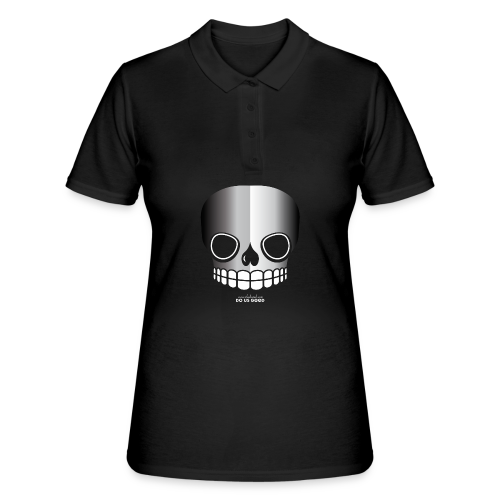 JUST SKULL bw - Women's Polo Shirt