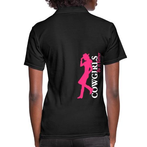 Cowgirls do it better - Frauen Polo Shirt