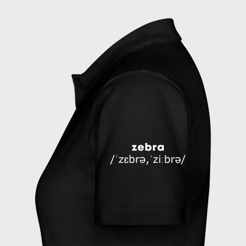 Zebra Nation (Limited Edition ORIGINAL 2.0) drop - Women's Polo Shirt