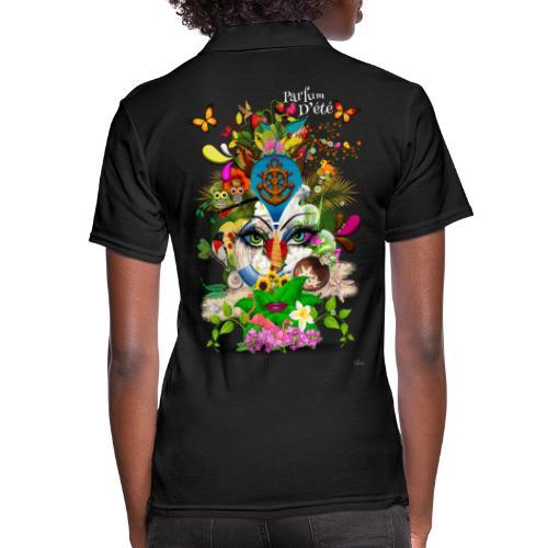 Parfum d'été by T-shirt chic et choc (tissu foncé) - Polo Femme