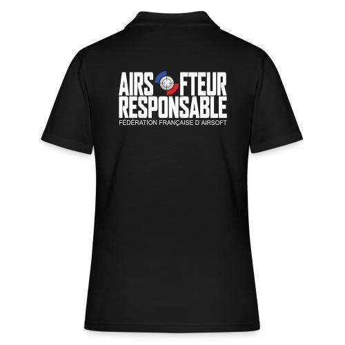 Airsofteur Responsable Dos - Polo Femme