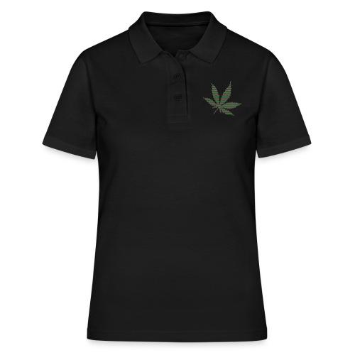 Hanfblatt (Nur aus Punkten) - Frauen Polo Shirt
