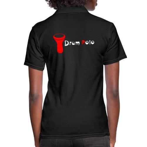 Drum Polo White / Red Back - Women's Polo Shirt