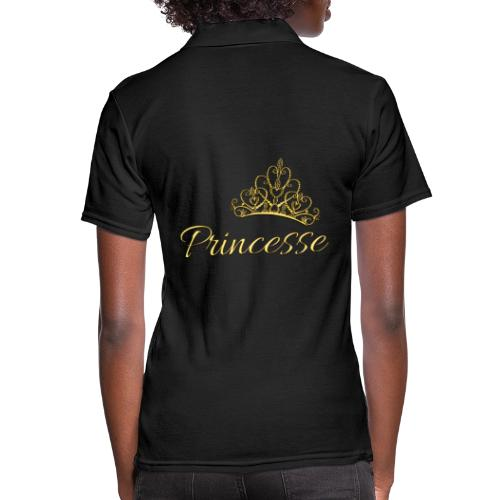 Princesse Or - by T-shirt chic et choc - Polo Femme
