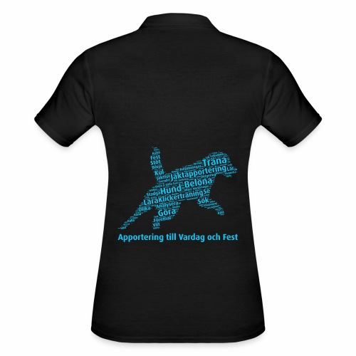 Apportering till vardag och fest wordcloud blått - Women's Polo Shirt