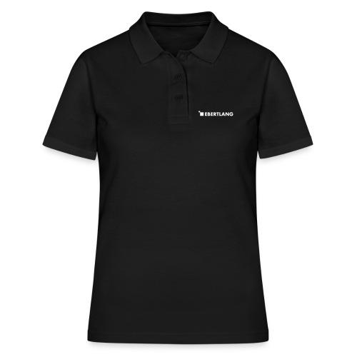 logo ebertlang einfarbig - Frauen Polo Shirt