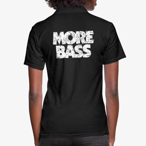 More Bass (Vintage/Weiß) Bassist Bassisten - Frauen Polo Shirt