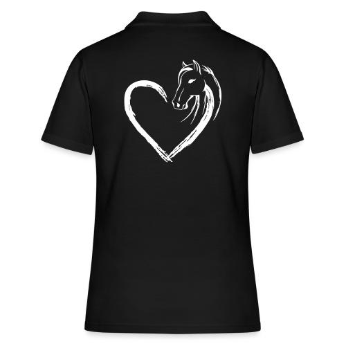 Vorschau: Pferde Herz - Frauen Polo Shirt