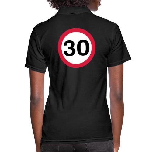 30mph Speed Limit Vector - choose design colours - Women's Polo Shirt