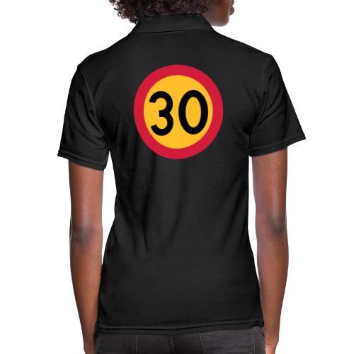 30 kph Road Sign Vector Design - Women's Polo Shirt