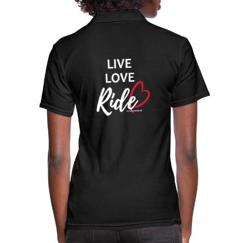 live love ride PFAD - Frauen Polo Shirt