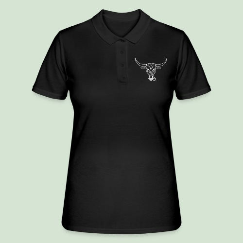 Logo & Bull's head - Frauen Polo Shirt