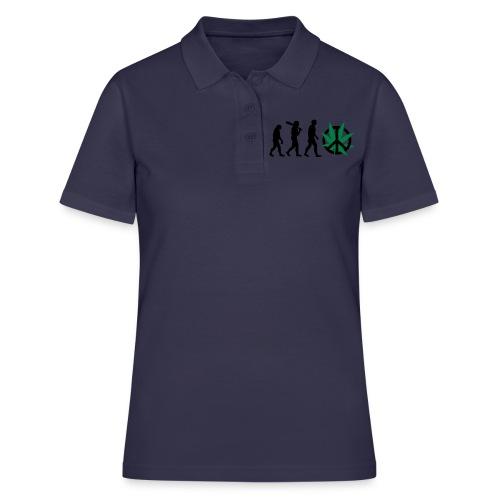 Evolution Cannabis - Frauen Polo Shirt