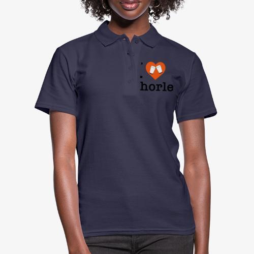 I love Schorle – Dubbeglas - Frauen Polo Shirt