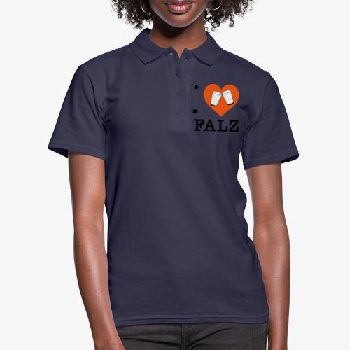 I love Pfalz – Dubbeglas - Frauen Polo Shirt